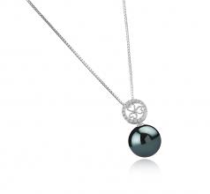 12-13mm AA Quality Tahitian Cultured Pearl Pendant in Klara Black