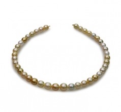 8.2-12mm Baroque Quality South Sea Cultured Pearl Necklace in 18-inch Multicolor
