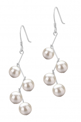 6-7mm AA Quality Freshwater Cultured Pearl Earring Pair in Mickey White