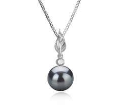 8-9mm AAAA Quality Freshwater Cultured Pearl Pendant in Miriah Black