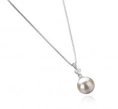 8-9mm AA Quality Japanese Akoya Cultured Pearl Pendant in Ellice White