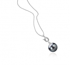 9-10mm AAA Quality Tahitian Cultured Pearl Pendant in Samantha Black