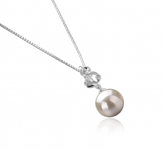 10-11mm AAAA Quality Freshwater Cultured Pearl Pendant in Niamh White