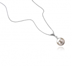 9-10mm AAAA Quality Freshwater Cultured Pearl Pendant in Ailani White
