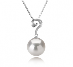 11-12mm AA+ Quality Freshwater - Edison Cultured Pearl Pendant in Lorna White