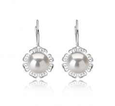 12-13mm AA+ Quality Freshwater - Edison Cultured Pearl Earring Pair in Edison Blenda White