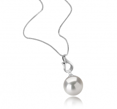 11-12mm AA+ Quality Freshwater - Edison Cultured Pearl Pendant in Elin White