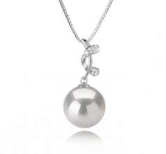 11-12mm AA+ Quality Freshwater - Edison Cultured Pearl Pendant in Angie White