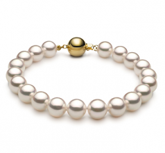 7.5-8mm Hanadama - AAAA Quality Japanese Akoya Cultured Pearl Bracelet in Hanadama 7-inch White