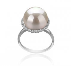 12-13mm AA+ Quality Freshwater - Edison Cultured Pearl Ring in Yanaka White