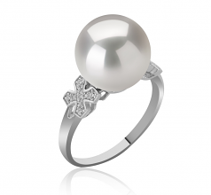 12-13mm AA+ Quality Freshwater - Edison Cultured Pearl Ring in Ireland White