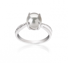 7.5-8mm AAAA Quality Freshwater Cultured Pearl Ring in Forever White