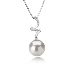12-13mm AA+ Quality Freshwater - Edison Cultured Pearl Pendant in Lydia White