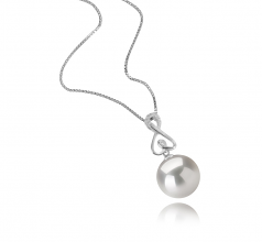 12-13mm AA+ Quality Freshwater - Edison Cultured Pearl Pendant in Patsy White