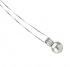 12-13mm AA+ Quality Freshwater - Edison Cultured Pearl Pendant in Colette White
