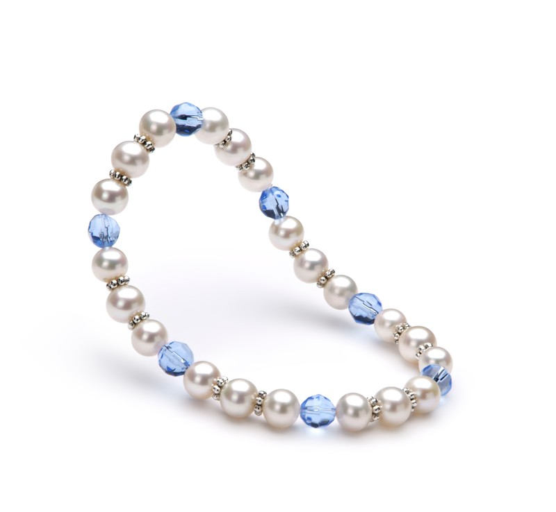 6-7mm AA Quality Freshwater Cultured Pearl Bracelet in Desir White