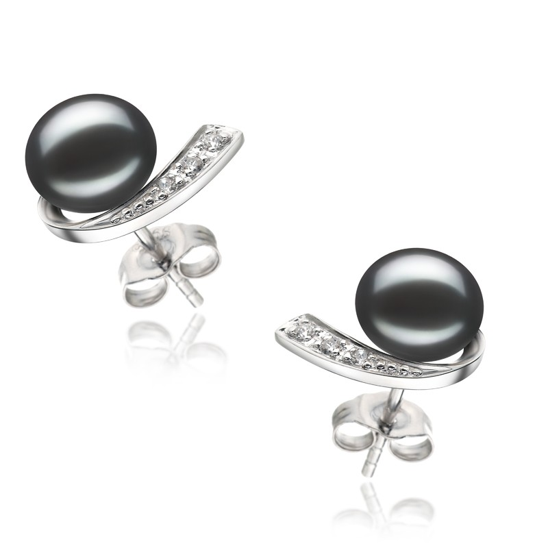 Claudia Black 7-8mm AA Quality Freshwater 925 Sterling Silver Pearl Earring Set