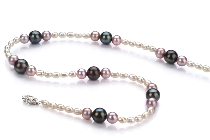 3-8mm A Quality Freshwater Cultured Pearl Necklace in Ida Multicolor