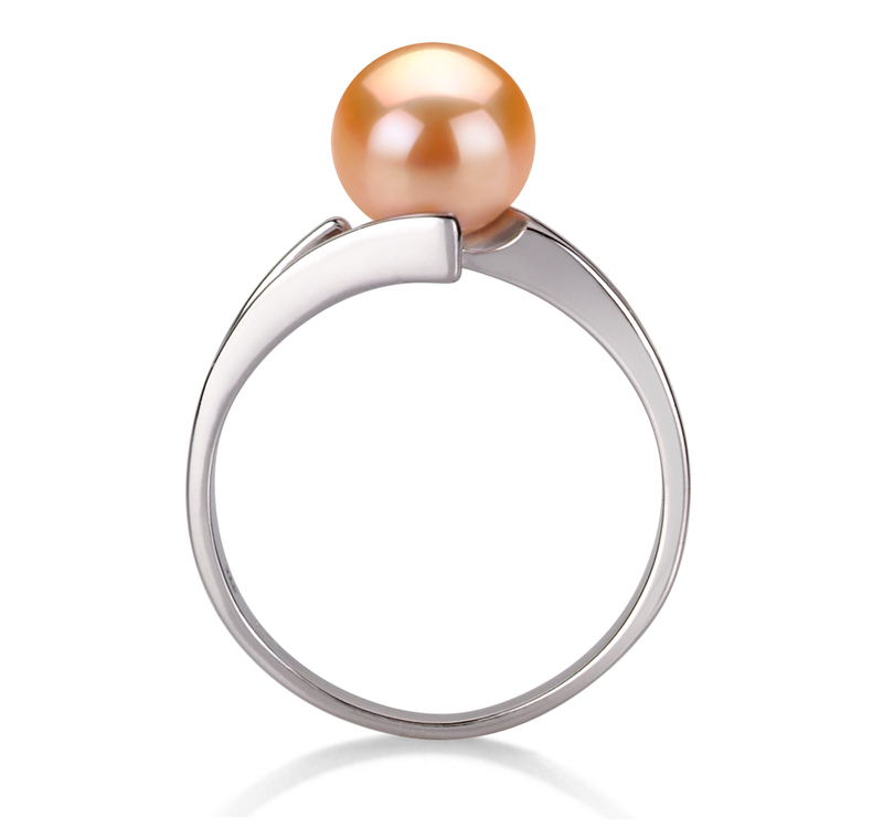 7-8mm AAA Quality Freshwater Cultured Pearl Ring in Jenna Pink
