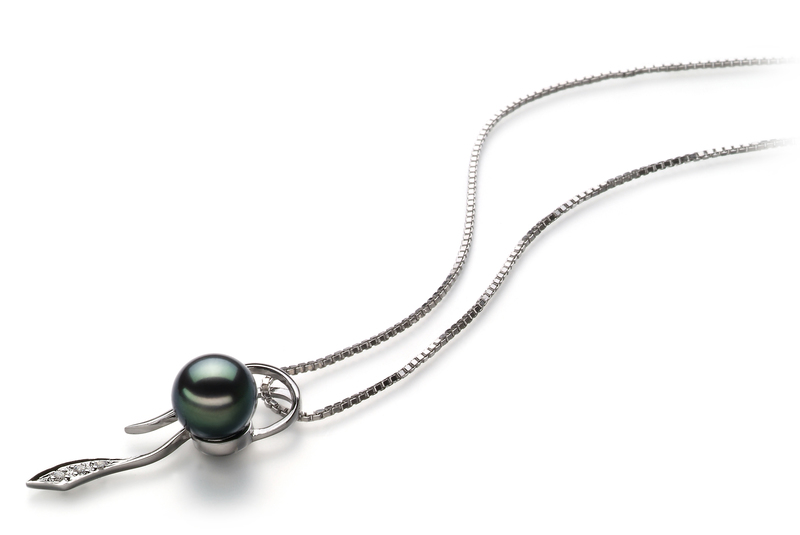 PearlsOnly - Jennifer Black 7-8mm AA Quality Japanese Akoya 925 Sterling Silver Cultured Pearl Pendant