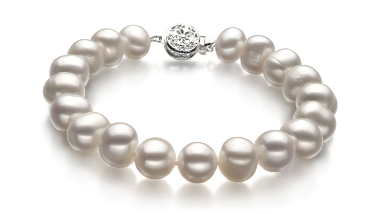 PearlsOnly - Kaitlyn White 8-9mm A Quality Freshwater Cultured Pearl Set