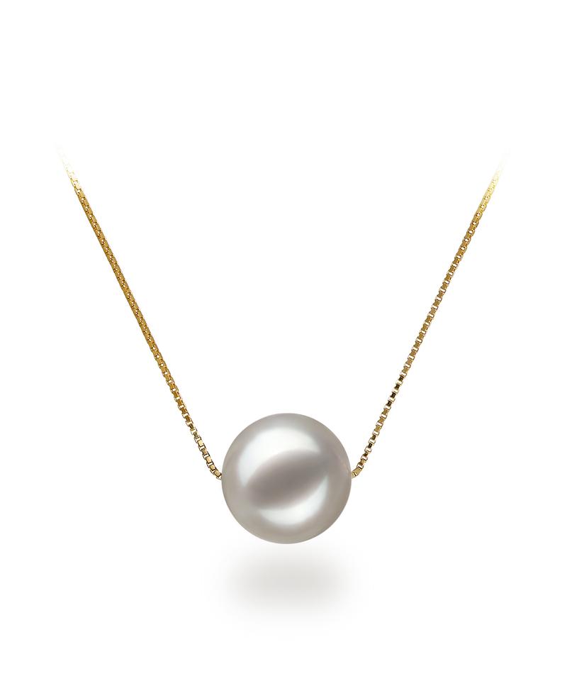 8-9mm AAA Quality Japanese Akoya Cultured Pearl Set in Kristine White