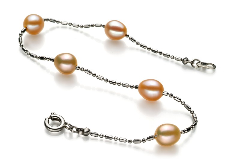 Mora Pink 6-7mm A Quality Freshwater Alloy Pearl Bracelet