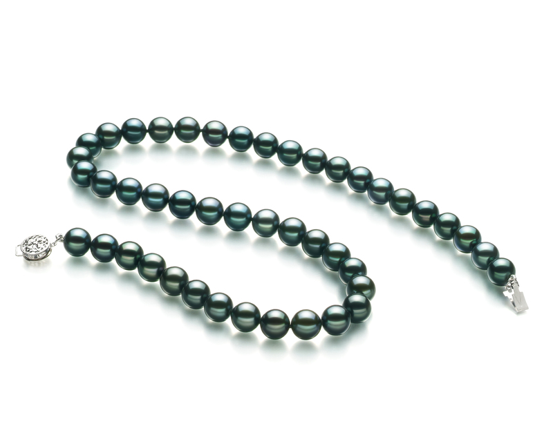 8-9mm AA Quality Japanese Akoya Cultured Pearl Necklace in Black