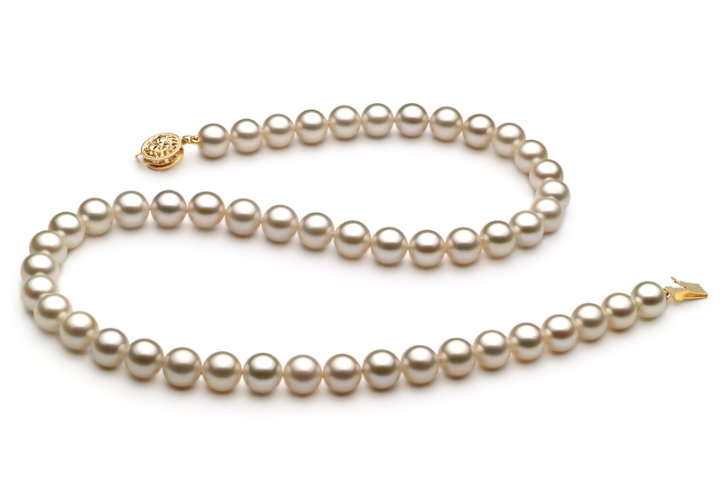 7-8mm AAAA Quality Freshwater Cultured Pearl Necklace in White
