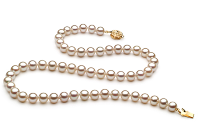 6-6.5mm AAAA Quality Freshwater Cultured Pearl Necklace in White