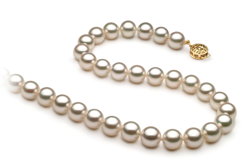 8.5-9mm AAA Quality Japanese Akoya Cultured Pearl Necklace in White
