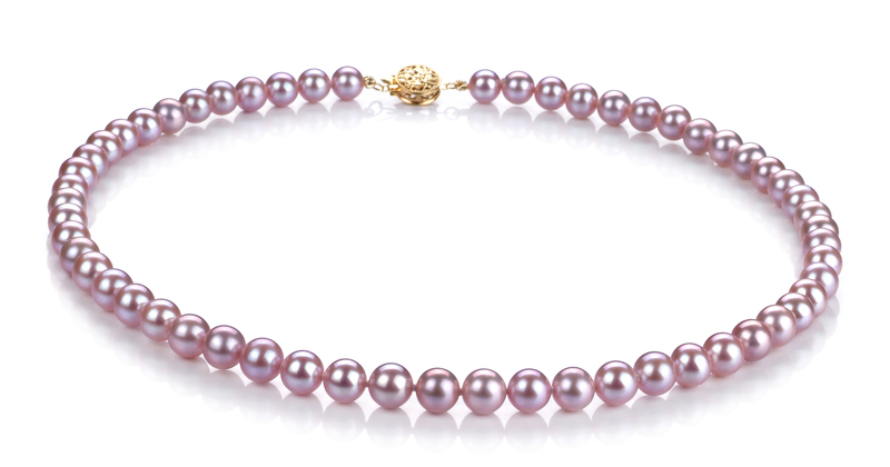 6-6.5mm AAAA Quality Freshwater Cultured Pearl Set in Lavender