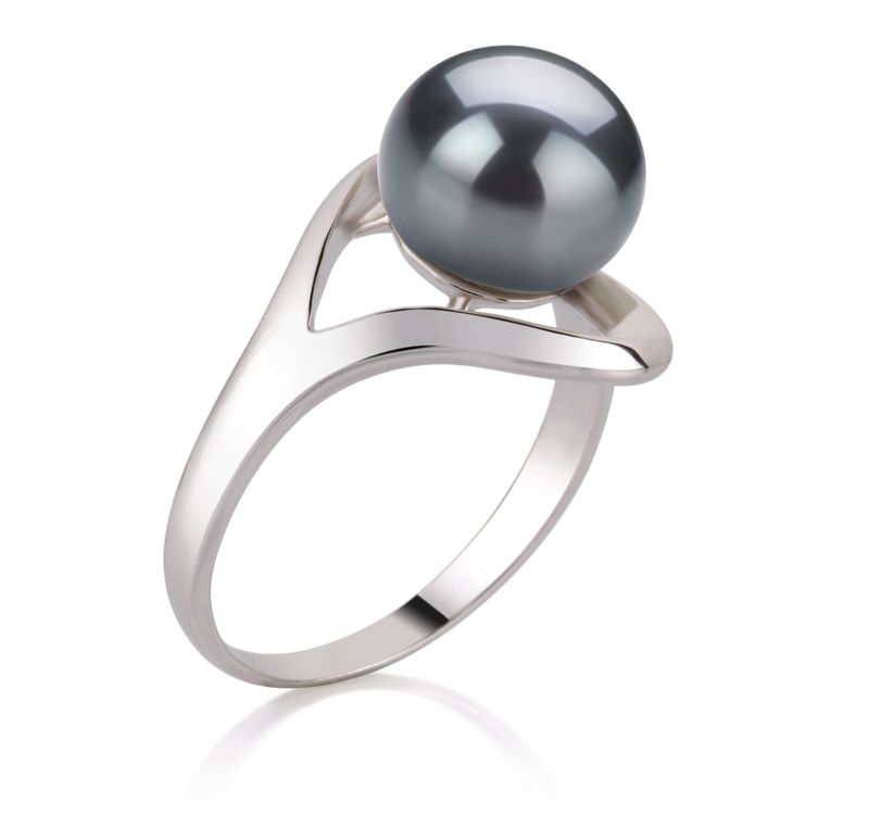 9-10mm AA Quality Freshwater Cultured Pearl Ring in Sadie Black