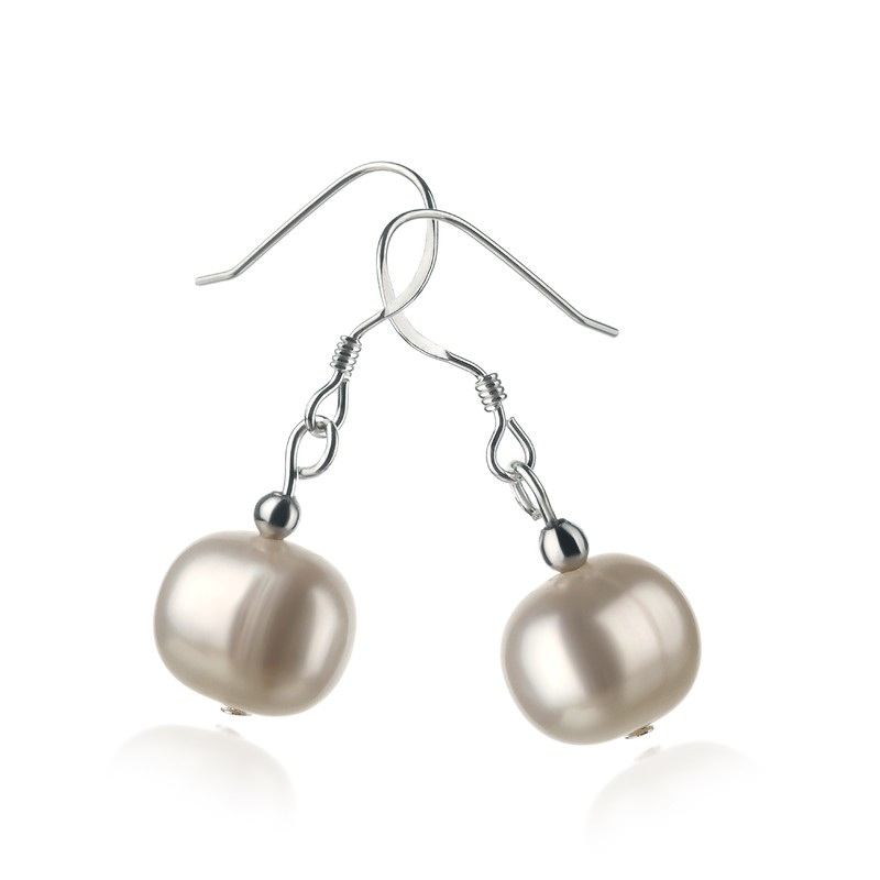 Teresa White 8-9mm A Quality Freshwater 925 Sterling Silver Pearl Earring Set