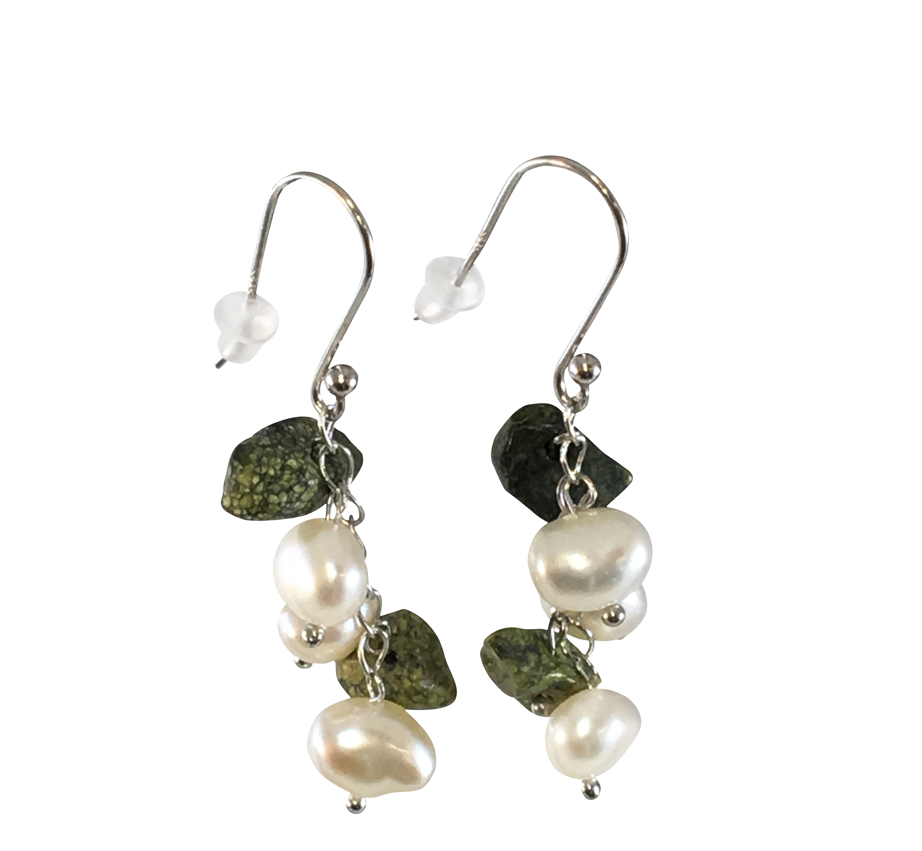 5.5-8.5mm A Quality Freshwater Cultured Pearl Earring Pair in White
