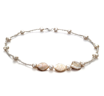 3.5-4mm A Quality Freshwater Cultured Pearl Necklace in Ashley White