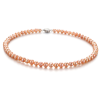 6-7mm A Quality Freshwater Cultured Pearl Necklace in Bliss Pink