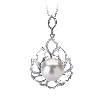 12-13mm AA+ Quality Freshwater - Edison Cultured Pearl Pendant in Calida White