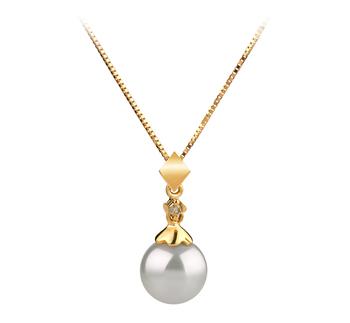 7-8mm AAA Quality Japanese Akoya Cultured Pearl Pendant in Georgia White