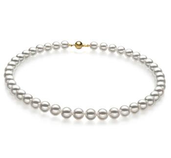 9-9.5mm Hanadama - AAAA Quality Japanese Akoya Cultured Pearl Necklace in Hanadama 18-inch White