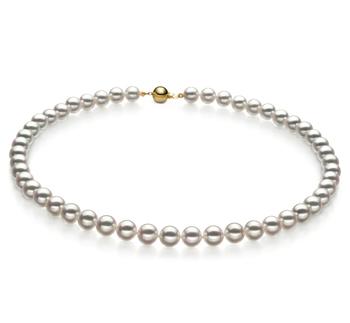 7-7.5mm Hanadama - AAAA Quality Japanese Akoya Cultured Pearl Necklace in Hanadama 18-inch White