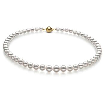 6-9mm Hanadama - AAAA Quality Japanese Akoya Cultured Pearl Necklace in Hanadama 23-inch White