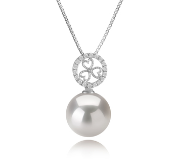 12-13mm AA+ Quality Freshwater - Edison Cultured Pearl Pendant in Klara White
