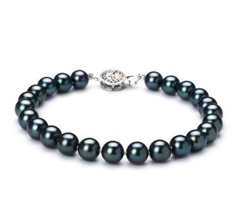 6.5-7mm AAA Quality Japanese Akoya Cultured Pearl Bracelet in Black