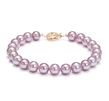 7-8mm AAAA Quality Freshwater Cultured Pearl Bracelet in Lavender