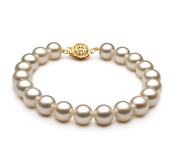 8-9mm AAA Quality Freshwater Cultured Pearl Bracelet in White