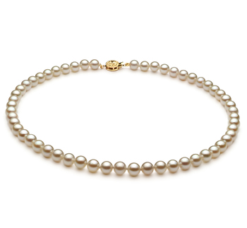 6-7mm AA Quality Japanese Akoya Cultured Pearl Necklace in White