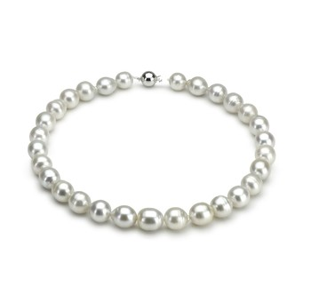 10.5-13mm A Quality South Sea Cultured Pearl Necklace in White