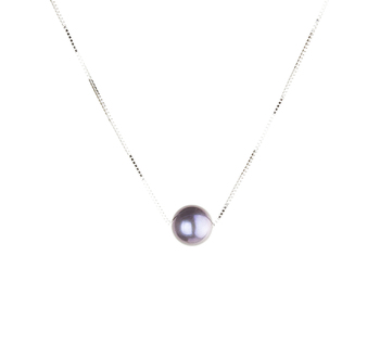 10-10.5mm AAAA Quality Freshwater Cultured Pearl Pendant in Black