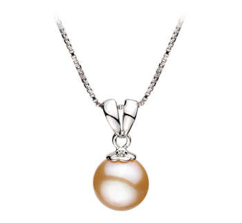 9-10mm AA Quality Freshwater Cultured Pearl Pendant in Sally Pink